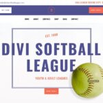 Download a FREE Header and Footer Template for Divi's Softball League Layout Pack