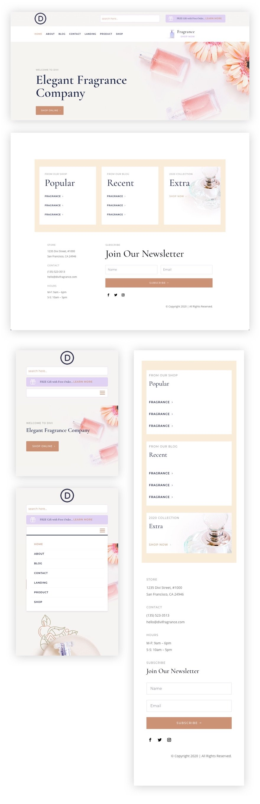 download-a-free-header-footer-template-for-divis-perfumery-layout-pack Download a FREE Header & Footer Template for Divi's Perfumery Layout Pack