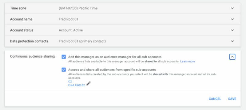 google-ads-continuous-audience-sharing-is-now-available-from-sub-accounts Google Ads' continuous audience sharing is now available from sub-accounts