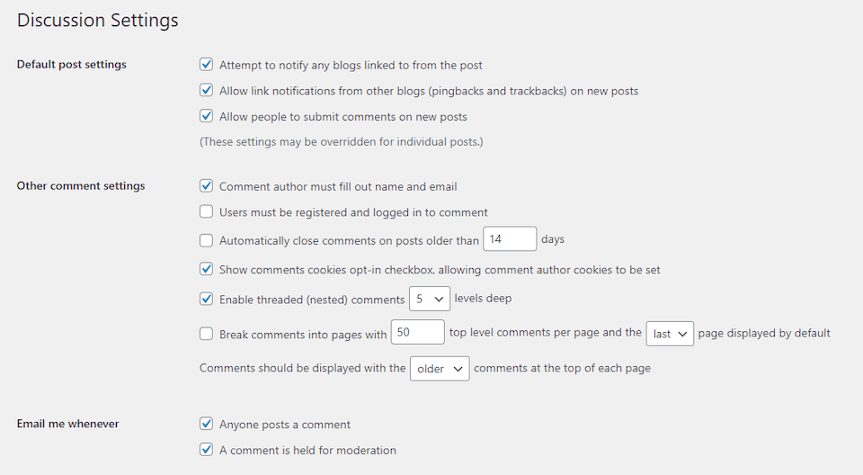 how-to-configure-your-wordpress-discussion-settings How to Configure Your WordPress Discussion Settings