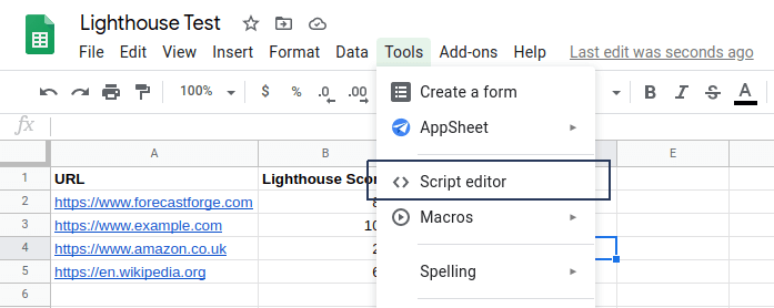 how-to-show-lighthouse-scores-in-google-sheets-with-a-custom-function-6 How to show Lighthouse Scores in Google Sheets with a custom function