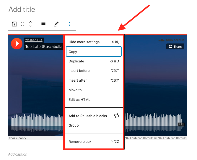 how-to-use-the-soundcloud-embed-block-11 如何使用 SoundCloud 嵌入块