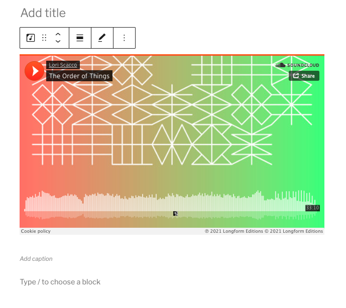 how-to-use-the-soundcloud-embed-block-4 如何使用 SoundCloud 嵌入块
