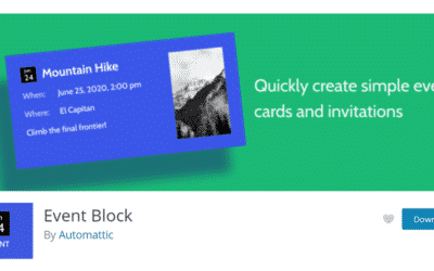 How to Use the WordPress Event Block by Automattic