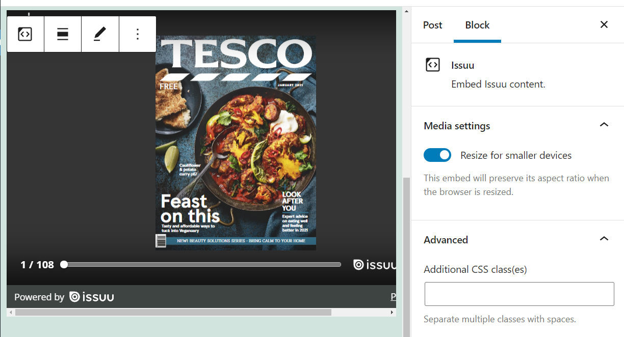 how-to-use-the-wordpress-issuu-embed-block-4 How to Use the WordPress Issuu Embed Block