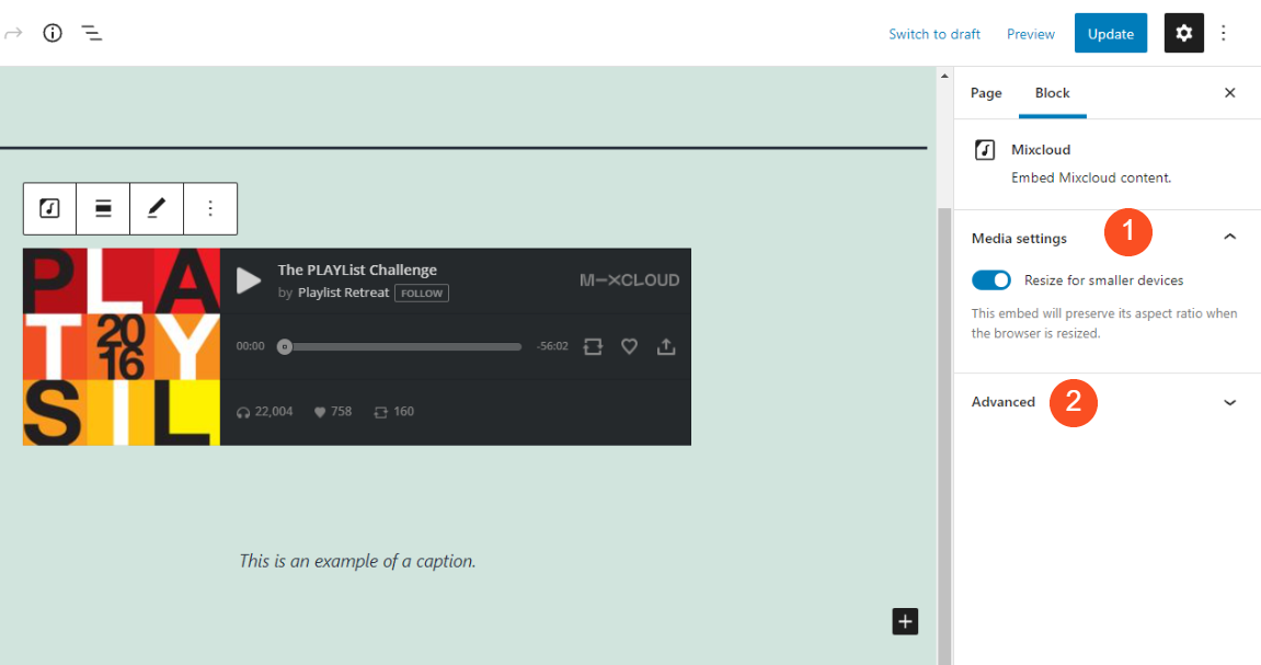 how-to-use-the-wordpress-mixcloud-embed-block-5 How to Use the WordPress Mixcloud Embed Block