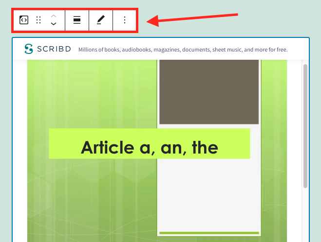 how-to-use-the-wordpress-scribd-embed-block-7 How to Use the WordPress Scribd Embed Block