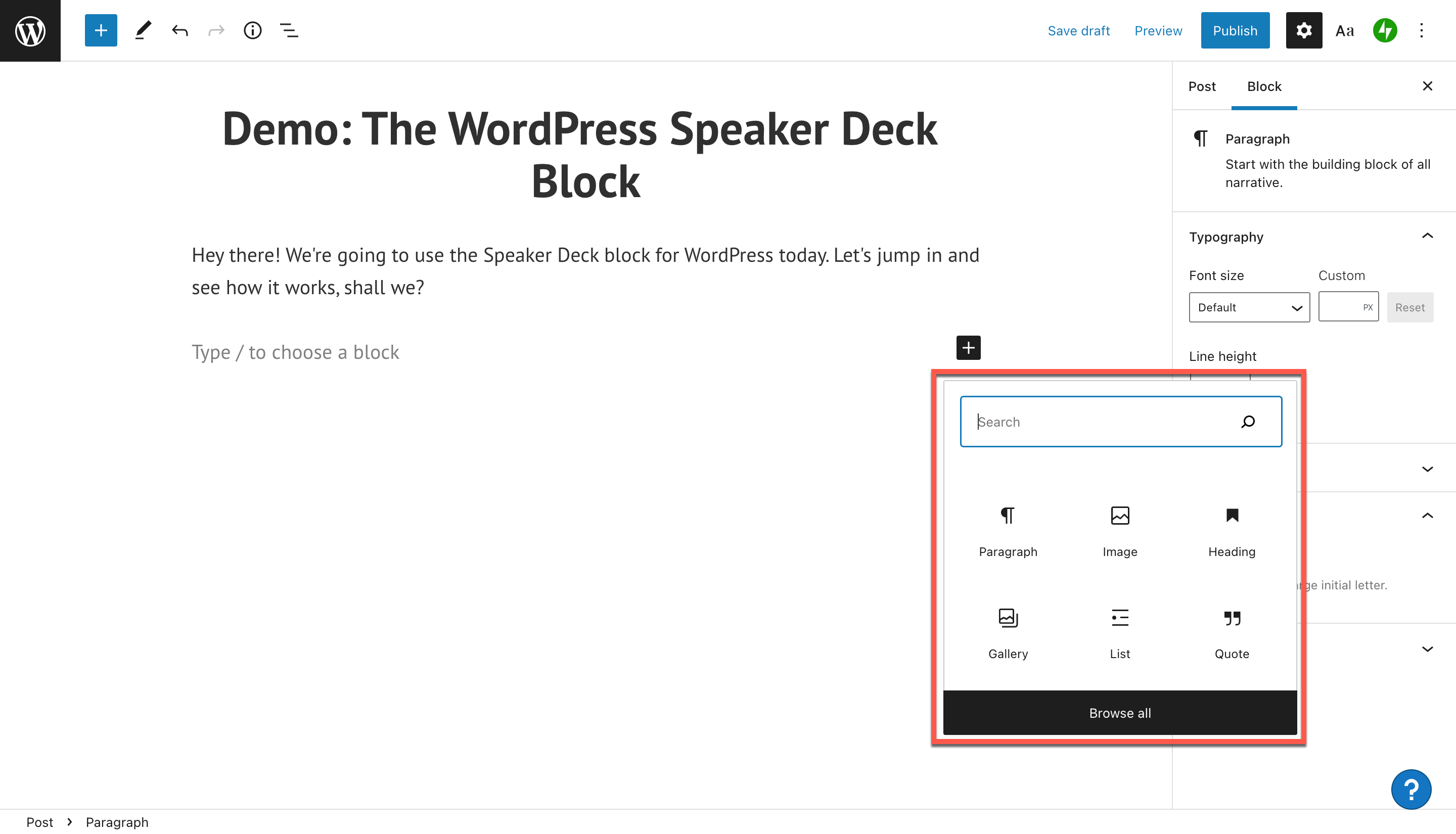 how-to-use-the-wordpress-speaker-deck-embed-block-1 如何使用 WordPress Speaker Deck 嵌入块