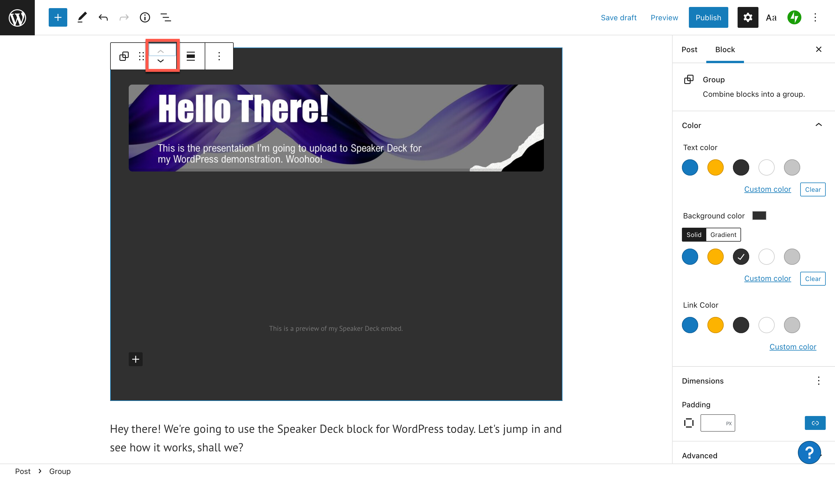 how-to-use-the-wordpress-speaker-deck-embed-block-14 如何使用 WordPress Speaker Deck 嵌入块