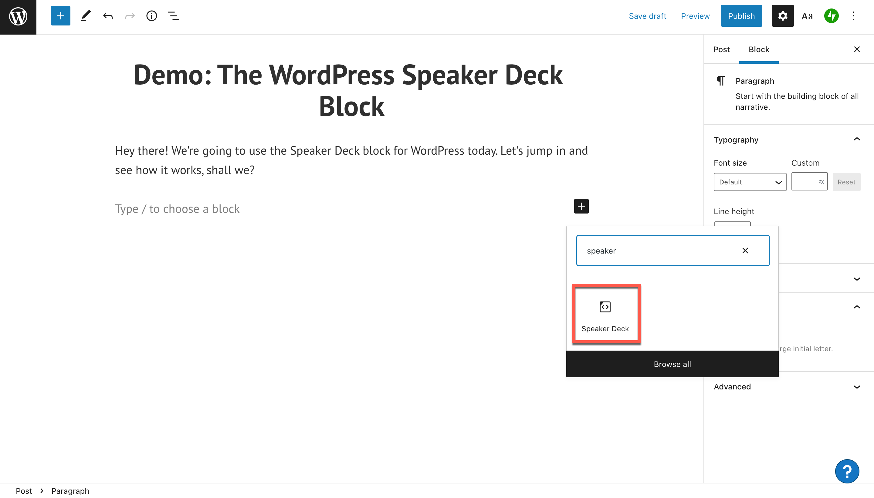 how-to-use-the-wordpress-speaker-deck-embed-block-2 如何使用 WordPress Speaker Deck 嵌入块