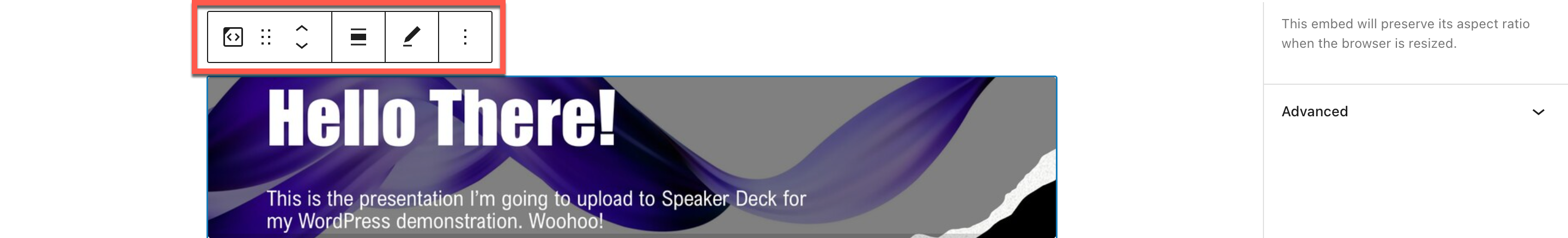 how-to-use-the-wordpress-speaker-deck-embed-block-9 如何使用 WordPress Speaker Deck 嵌入块