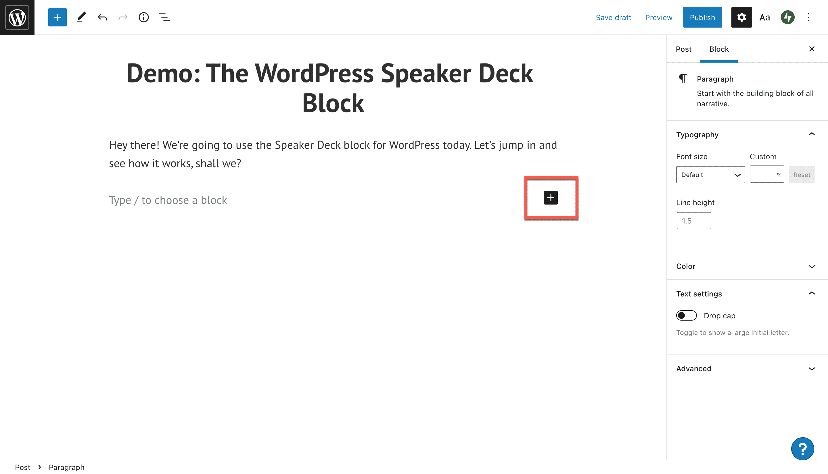 how-to-use-the-wordpress-speaker-deck-embed-block 如何使用 WordPress Speaker Deck 嵌入块