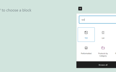 How to Use the WordPress TED Embed Block