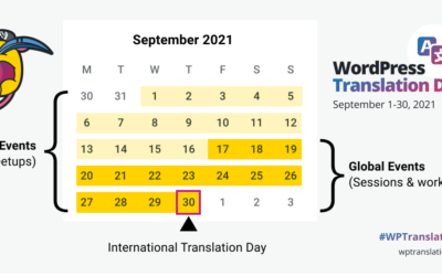 Join us for WordPress Translation Day Global Events in September 2021