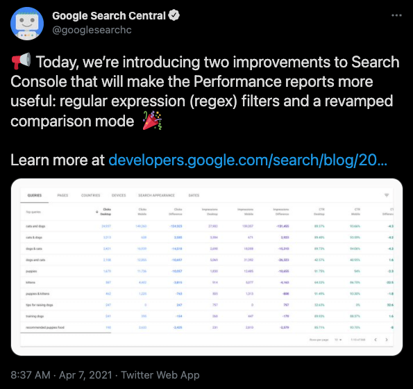 looks-like-we-made-it-regex-finally-comes-to-search-console-thursdays-daily-brief Looks like we made it: Regex finally comes to Search Console; Thursday's daily brief