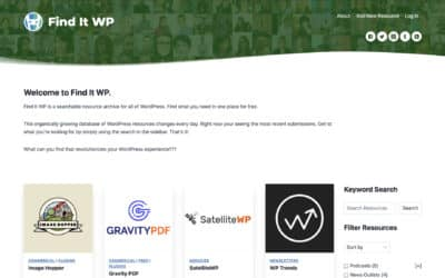 The HeroPress Network Launches Find It WP, a Cooperative Resource Archive for WordPress