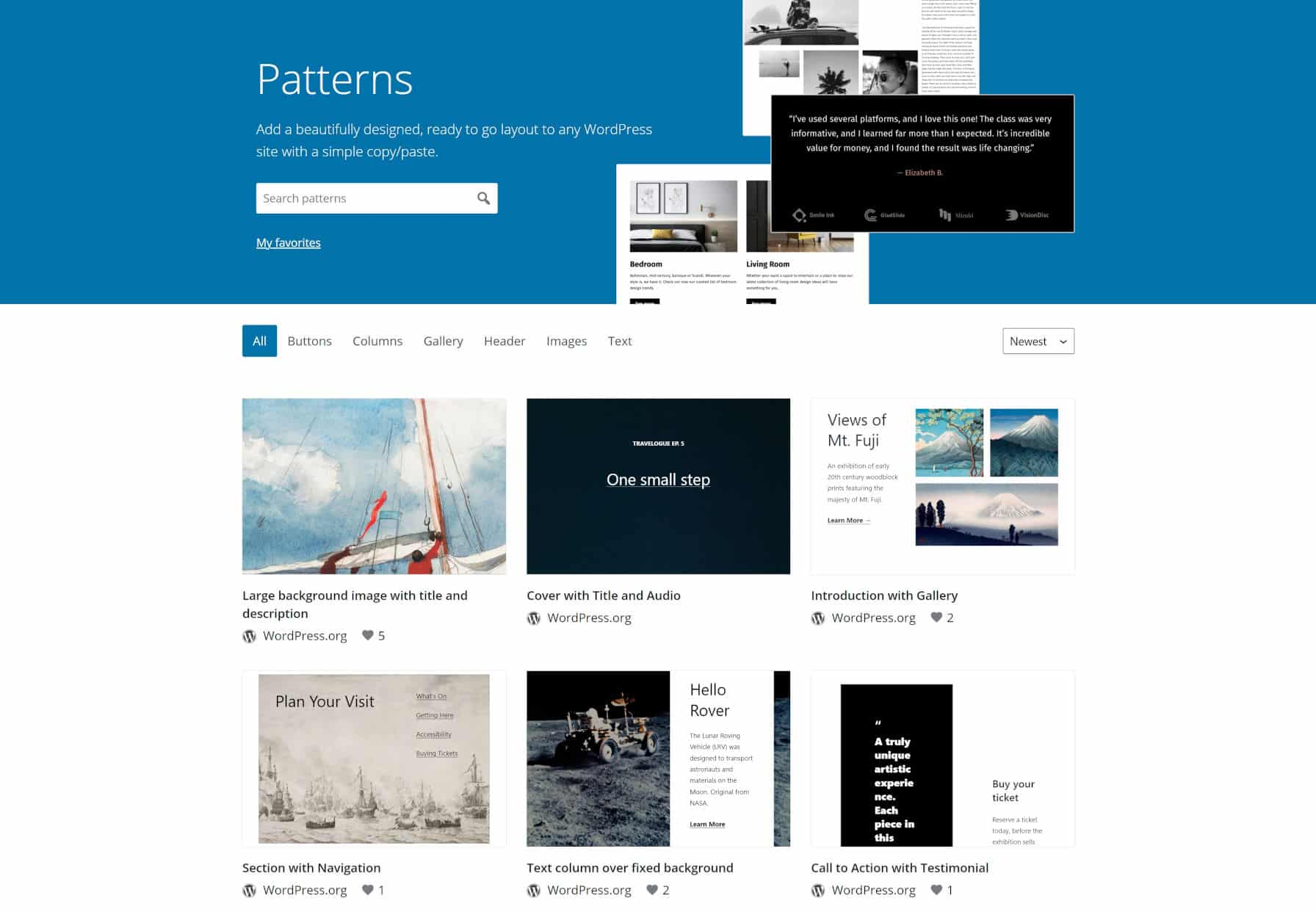 the-wordpress-org-block-pattern-directory-is-now-live The WordPress.org Block Pattern Directory Is Now Live