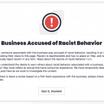 Yelp introduces new 'business accused of racist behavior' consumer alert
